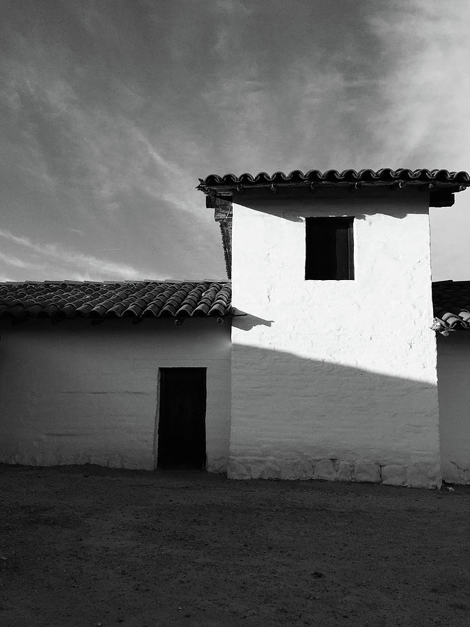 Black And White Photograph - Presidio Shadows- Art by Linda Woods by Linda Woods