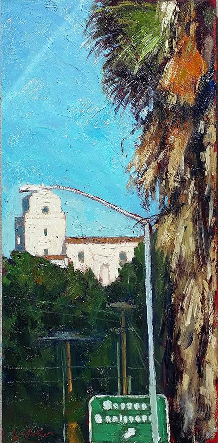 San Diego Painting - Presido Mission by Kevin Yuen