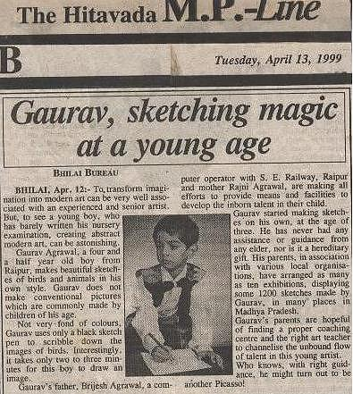 Press-coverage Drawing by Gaurav Agrawal