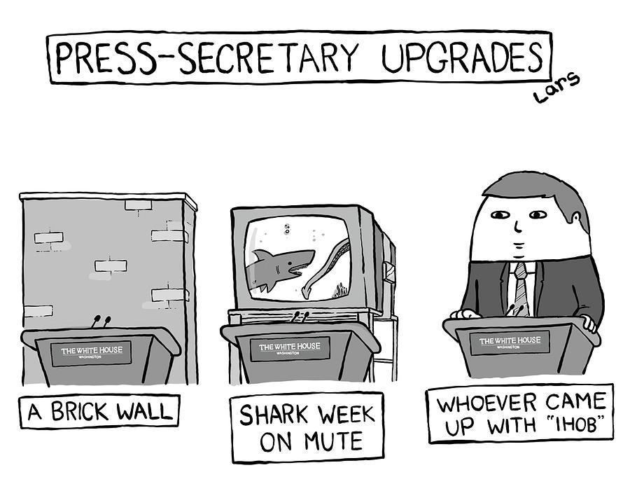 Press-Secretary Upgrades Drawing by Lars Kenseth