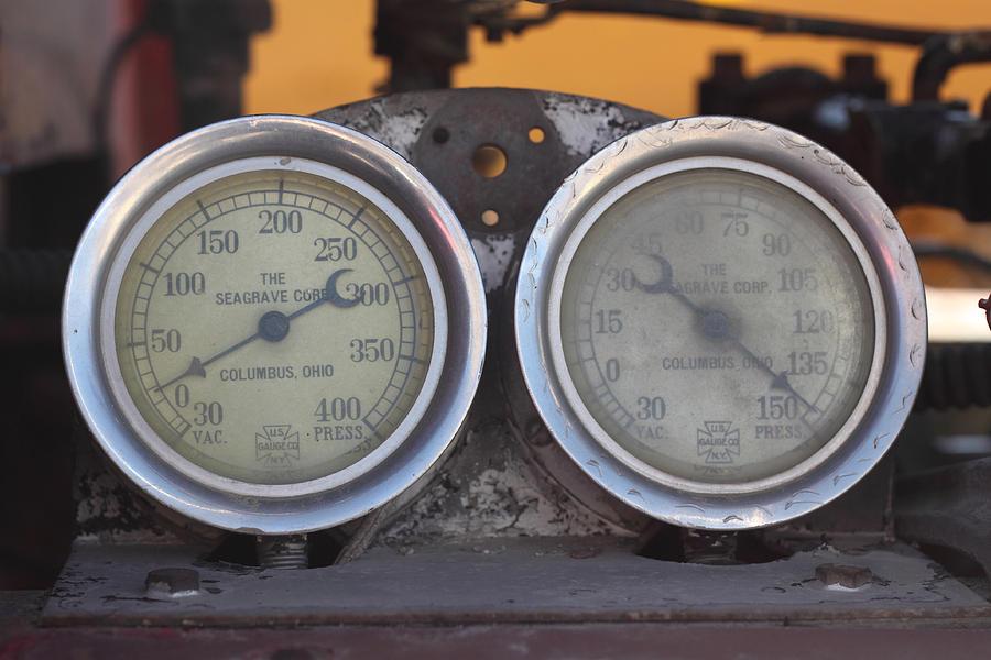 Gauge Photograph - Pressure Gauge by Troy Montemayor