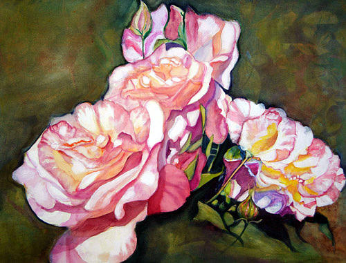 Roses Painting - Prestridges Roses by Cecilia Price