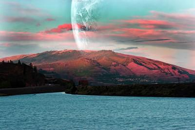 Photoshop Photograph - Pretend Over Columbia River by Diana Dyer