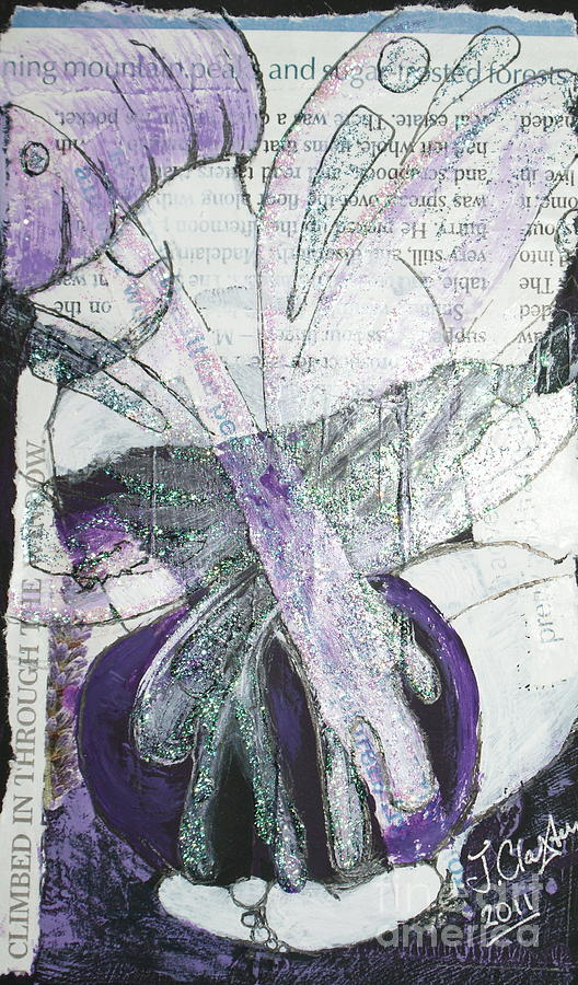 Fairy Mixed Media - Pretty And Tranquil by Joanne Claxton