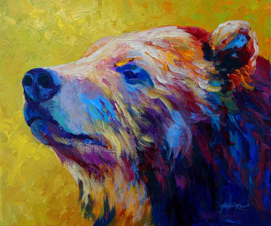 Bear Painting - Pretty Boy - Grizzly Bear by Marion Rose