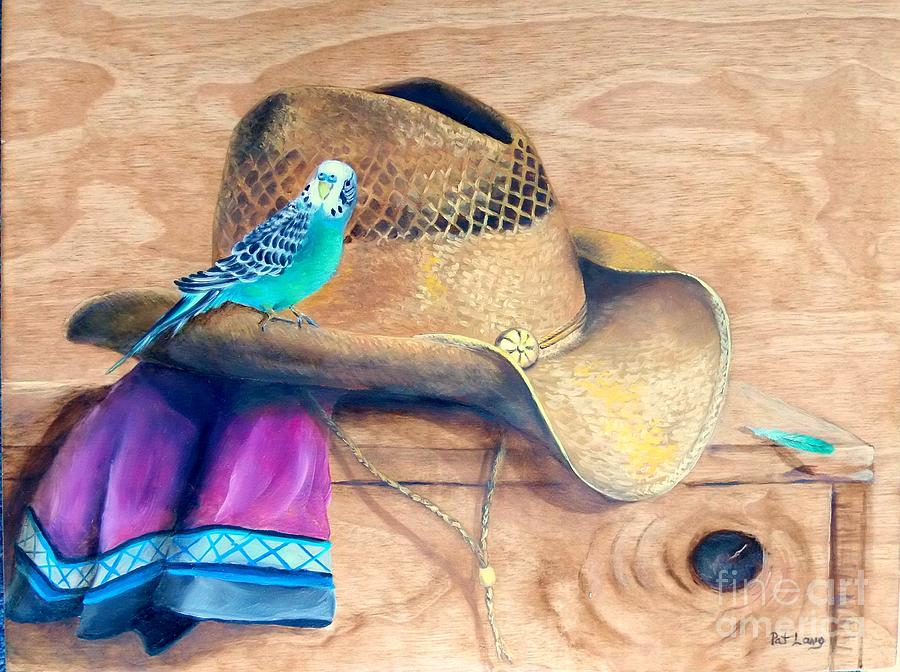 Parakeet Painting - Pretty Boy by Patricia Lang