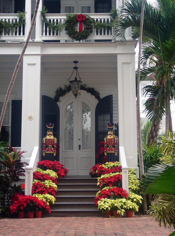 Houses In Key West Photograph - Pretty Christmas Decoration In Key West by Susanne Van Hulst