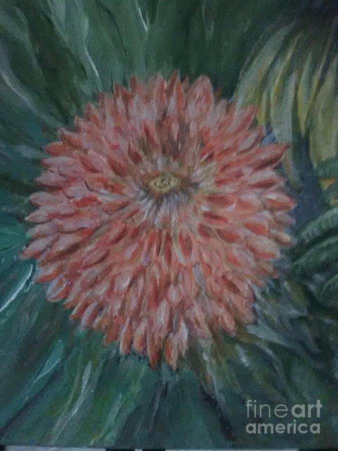 Pretty Dahlia Painting by Loretta Kessler