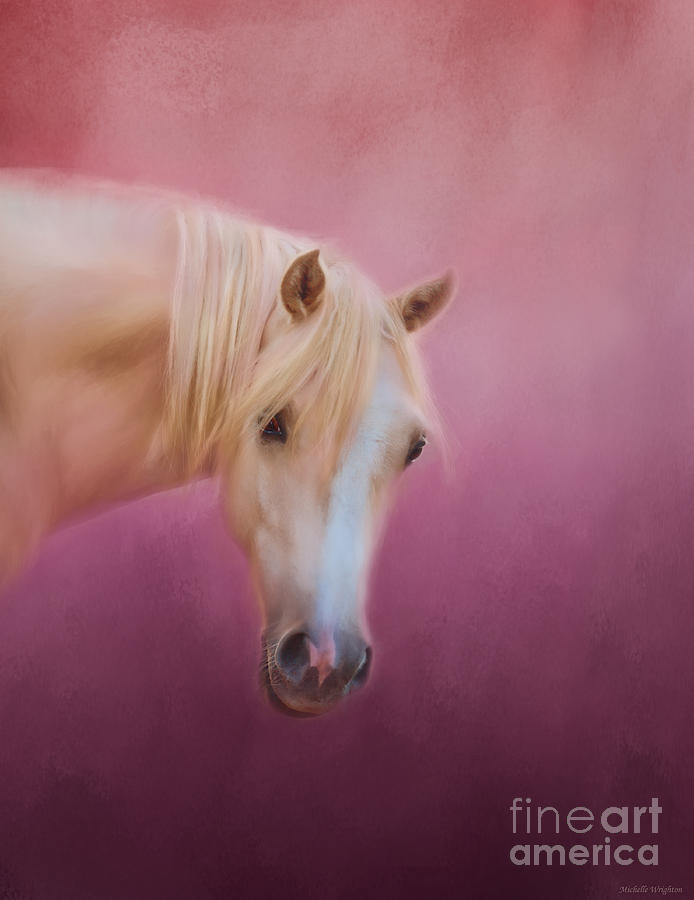 Pretty In Pink - Palomino Pony by Michelle Wrighton