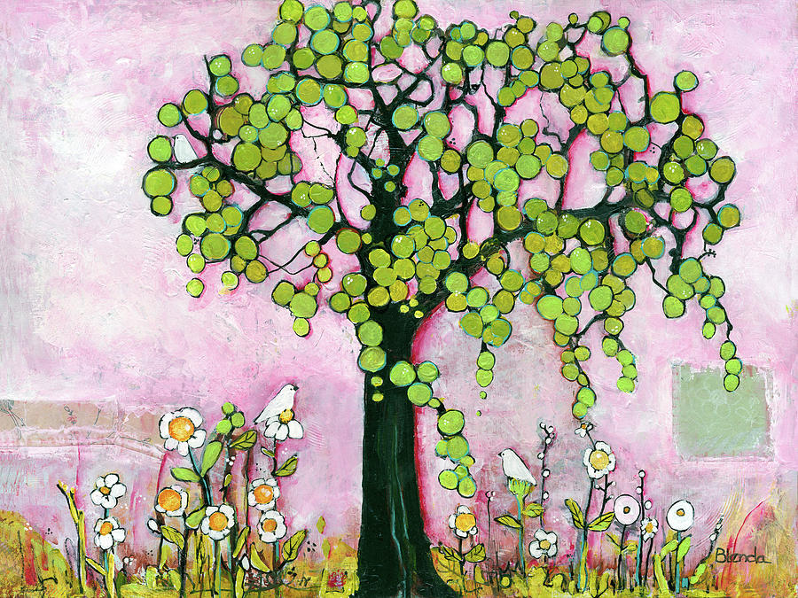 Painting Painting - Pretty In Pink Paradise Tree by Blenda Studio