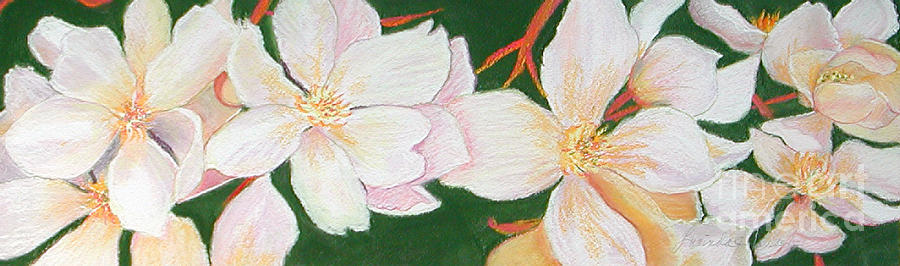 White Flowers Painting - Pretty Maids by Lucinda  Hansen