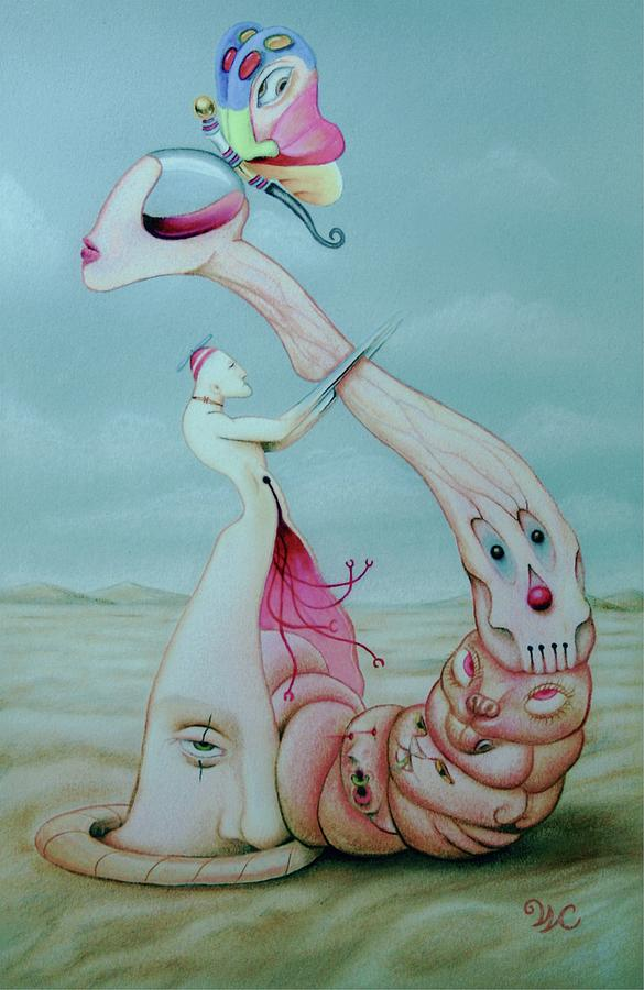 Surreal Mixed Media - Pretty Noose--the Choking Halo by Will Crane