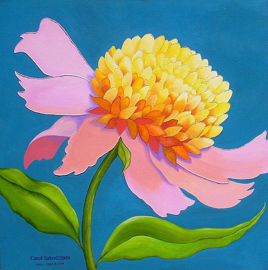 Flower Painting - Pretty Peony by Carol Sabo