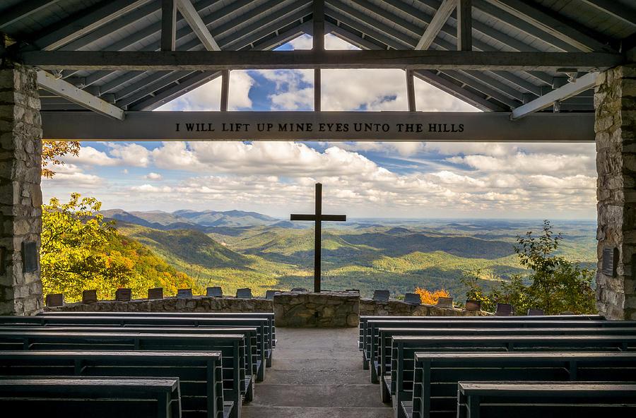 Pretty Place Chapel Photograph - Pretty Place Chapel - Blue Ridge Mountains SC by Dave Allen