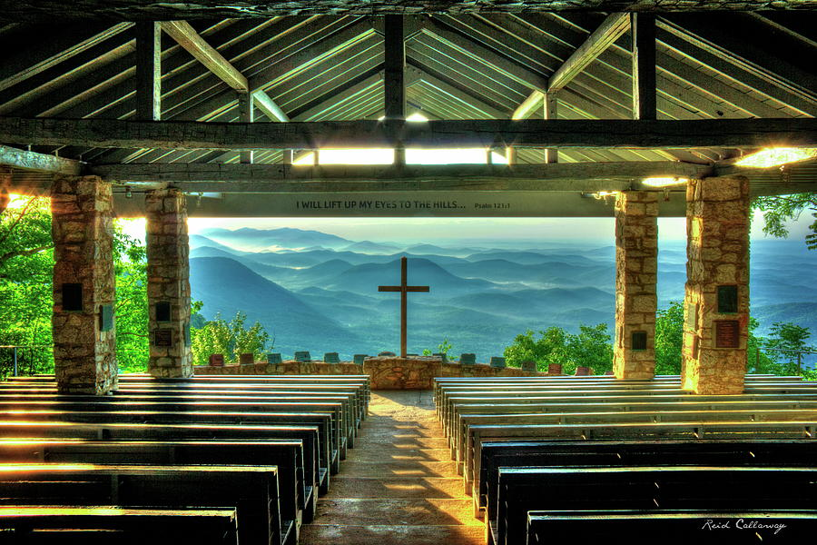 Pretty Place Chapel The Son Has Risen Blue Ridge Mountain Art by Reid Callaway
