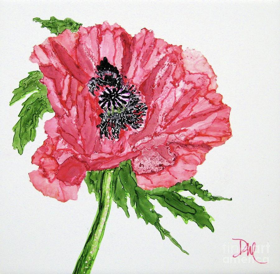 Poppy Painting - Pretty Poppy by Diane Marcotte