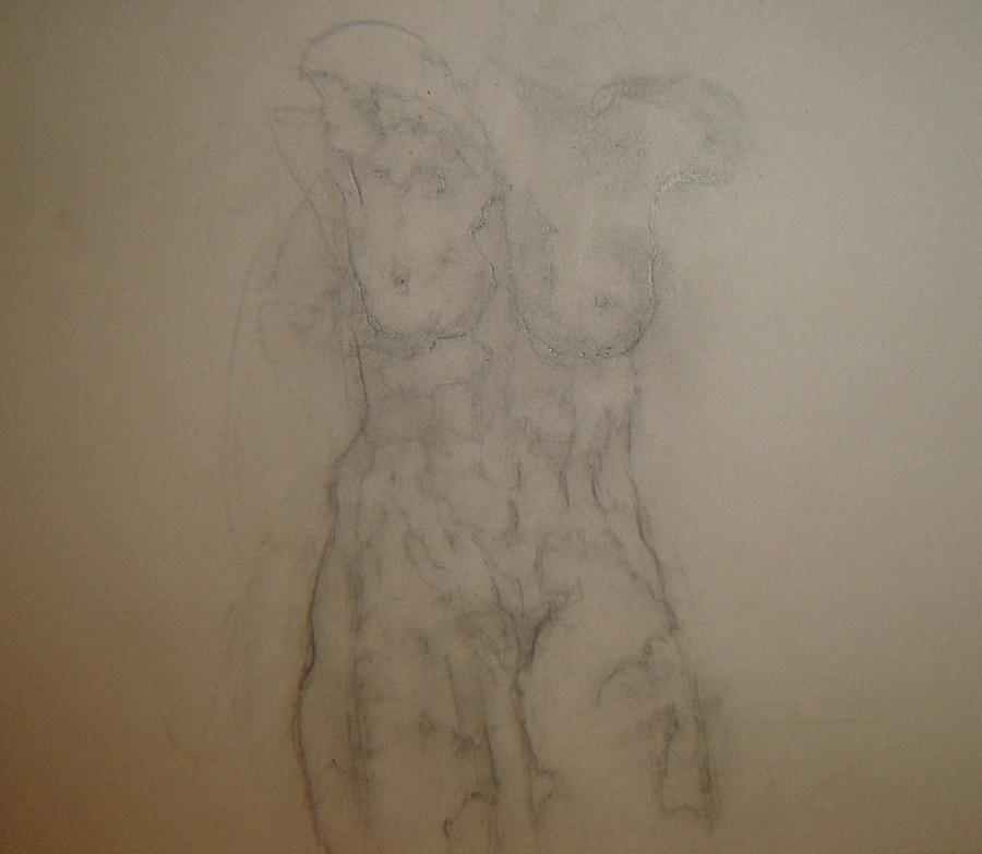 Female Nude Drawing - Pretty Soon by Dean Corbin