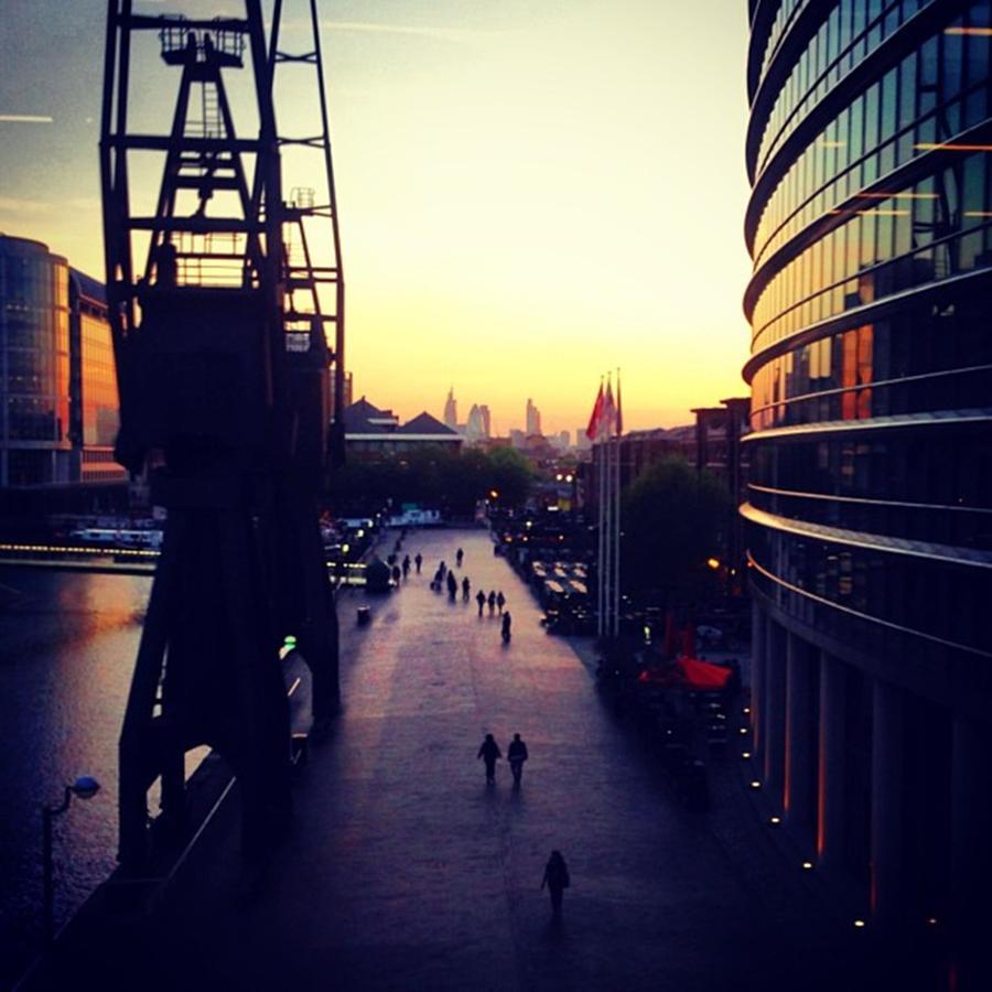 Urban Photograph - #pretty #urban #sunset. #london #skyline by Louise McAulay
