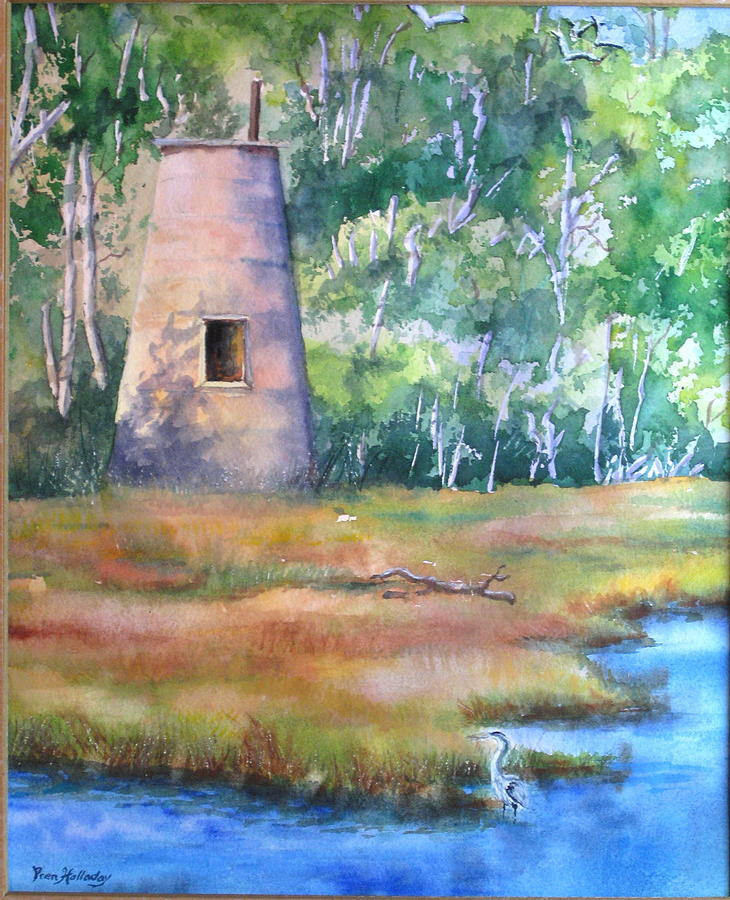 Southport Painting - Prices Creek Light by Prentiss Halladay