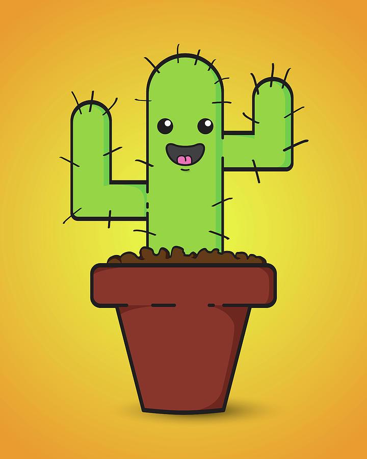 Cactus Digital Art - Prickle by Samuel Whitton