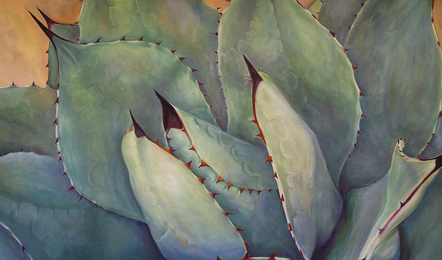Agave Painting - Prickly 2 by Athena Mantle