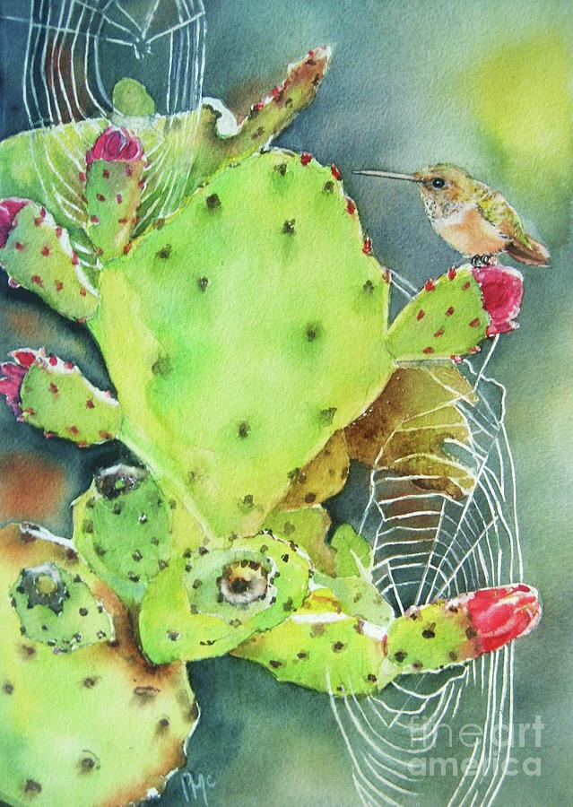 Prickly Pear Cactus Painting - Prickly Pair by Patricia Pushaw