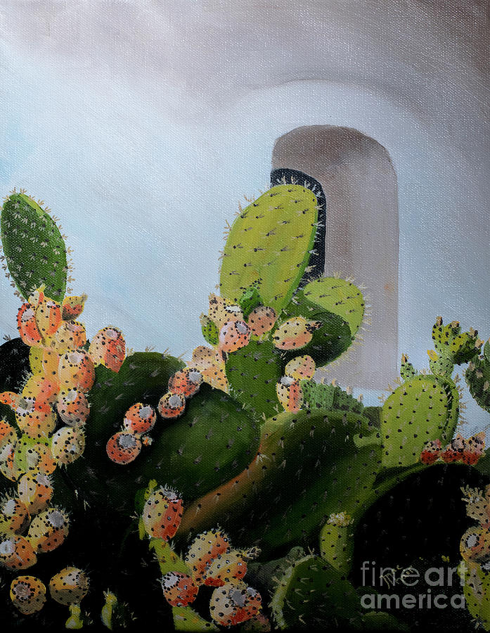 Prickly Pear Cactus at Mission la Purisima by Jackie MacNair