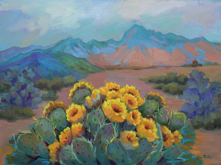 Prickly Pear in the Desert by Diane McClary