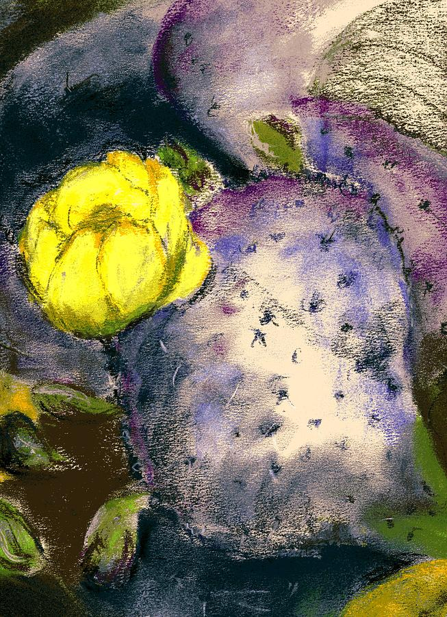 Cactus Painting - Prickly Pear by Marilyn Barton