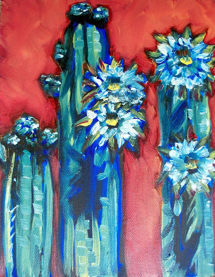 Cactus Painting - Prickly Sisters by Sheila Tajima