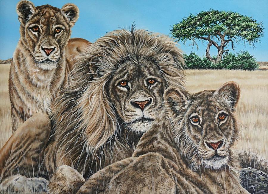 Wildlife Painting - Pride 2 by Katie McConnachie