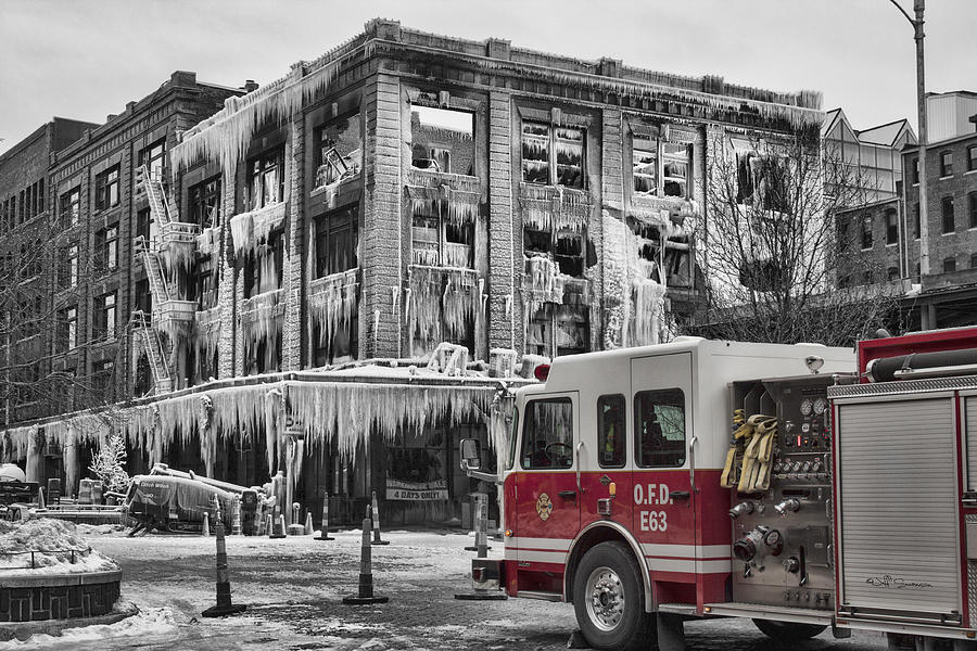 M's Pub Photograph - Pride, Commitment, And Service -after The Fire by Jeff Swanson