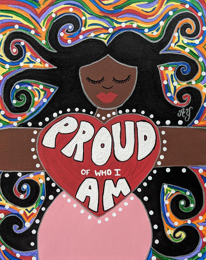 Holy Painting - Pride Goddess by Angela Yarber