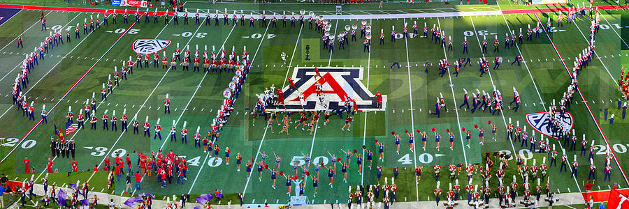Football Photograph - Pride of Arizona by Stephen Farley