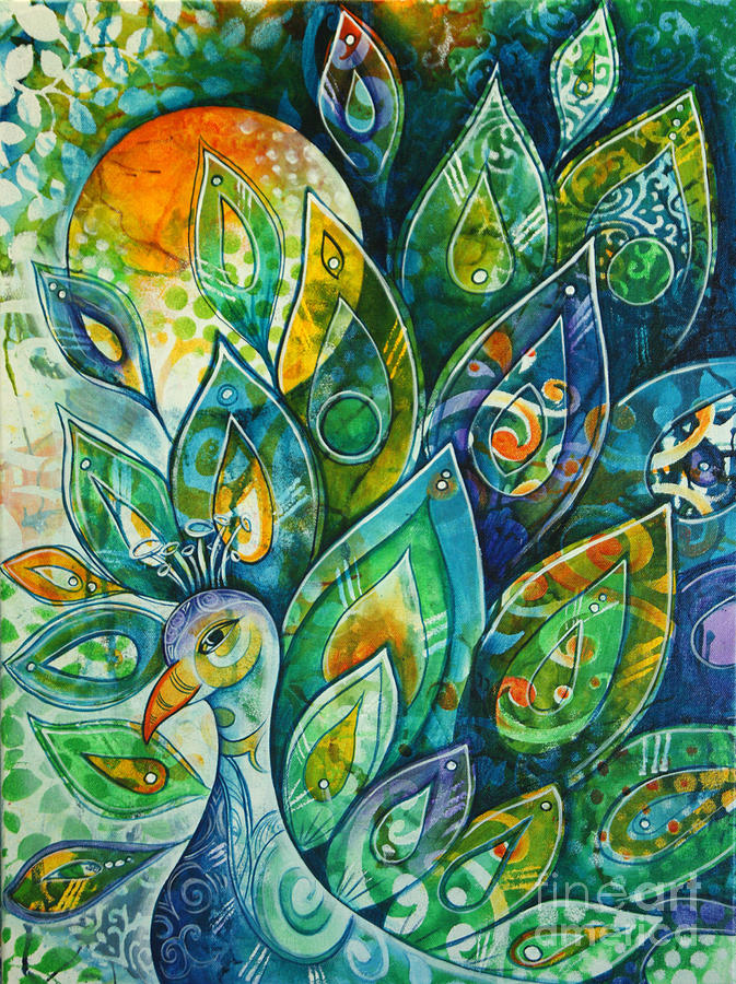 Peacock Painting - Peacock Pride by Reina Cottier