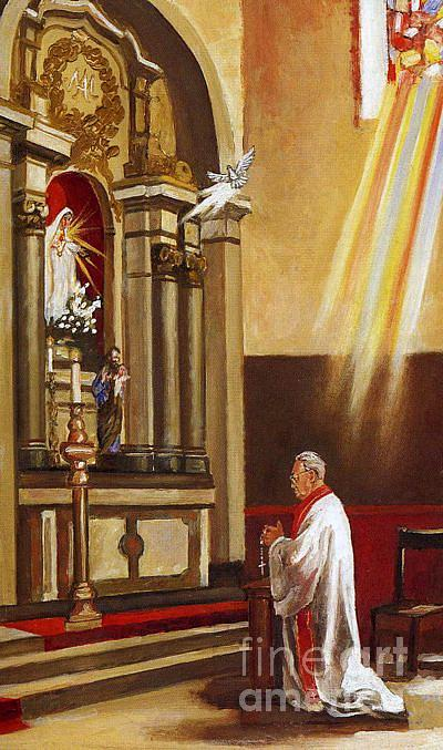 Priest Painting - Priest Is A Priest Forever by Mark Sanislo