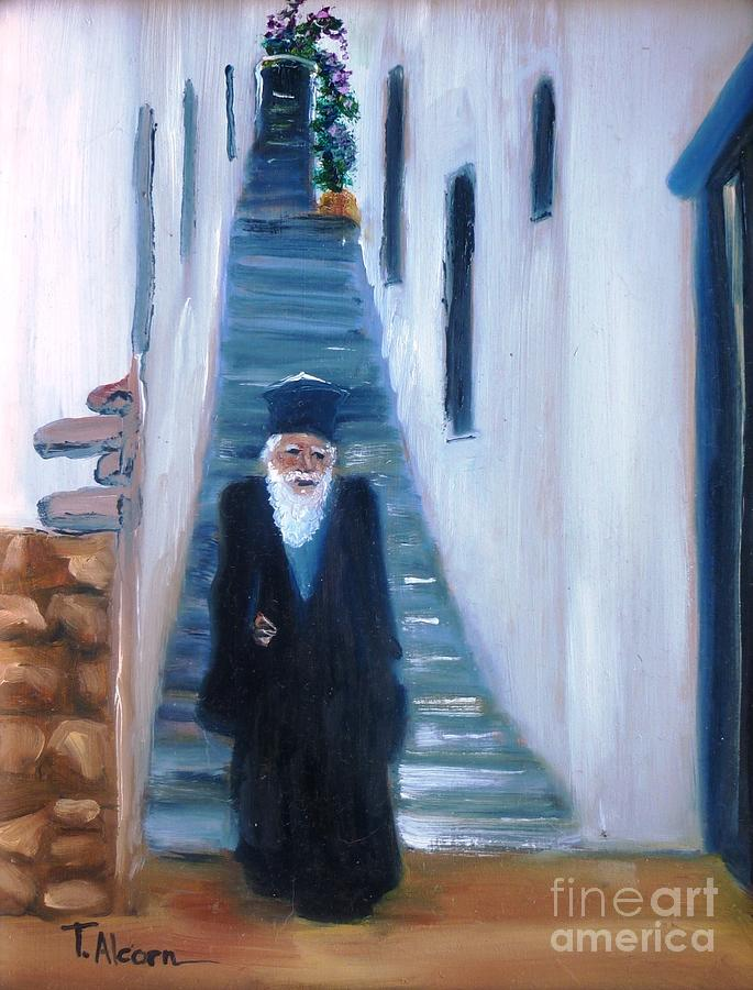 Priest Painting - Priest Of Pothia by Therese Alcorn