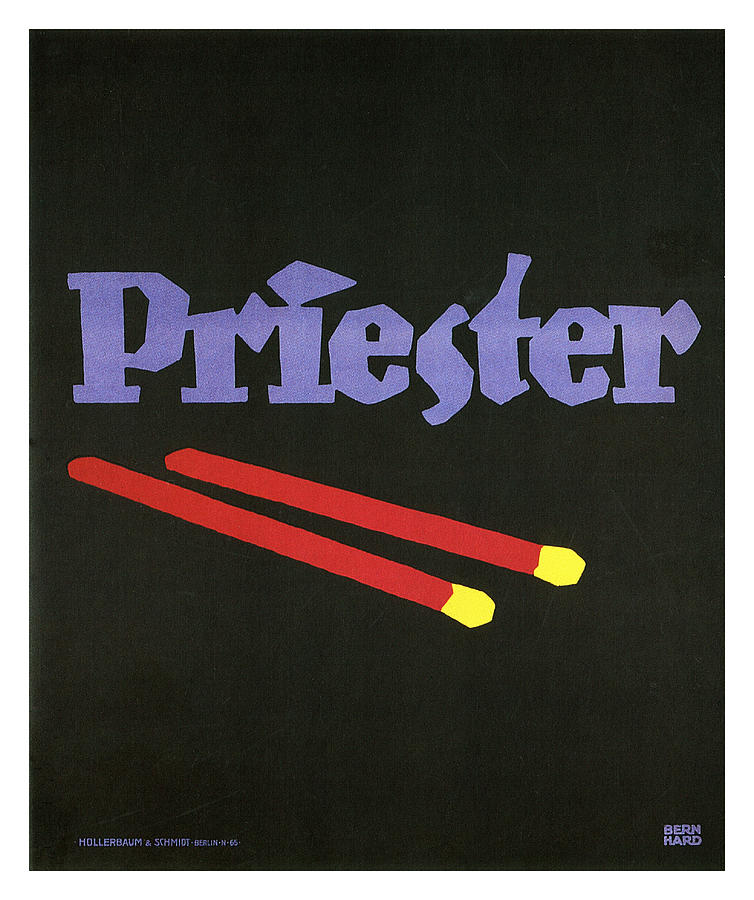 Vintage Mixed Media - Priester - Matches - Vintage Advertising Poster by Studio Grafiikka