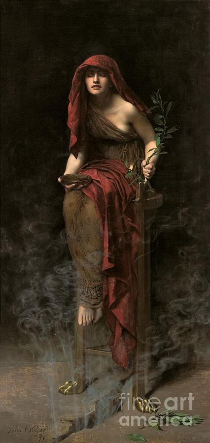 Portrait Painting - Priestess Of Delphi by John Collier