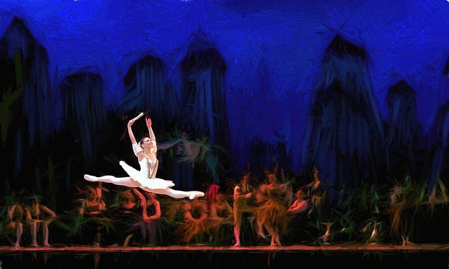 Prima ballerina Painting by Louis Ferreira