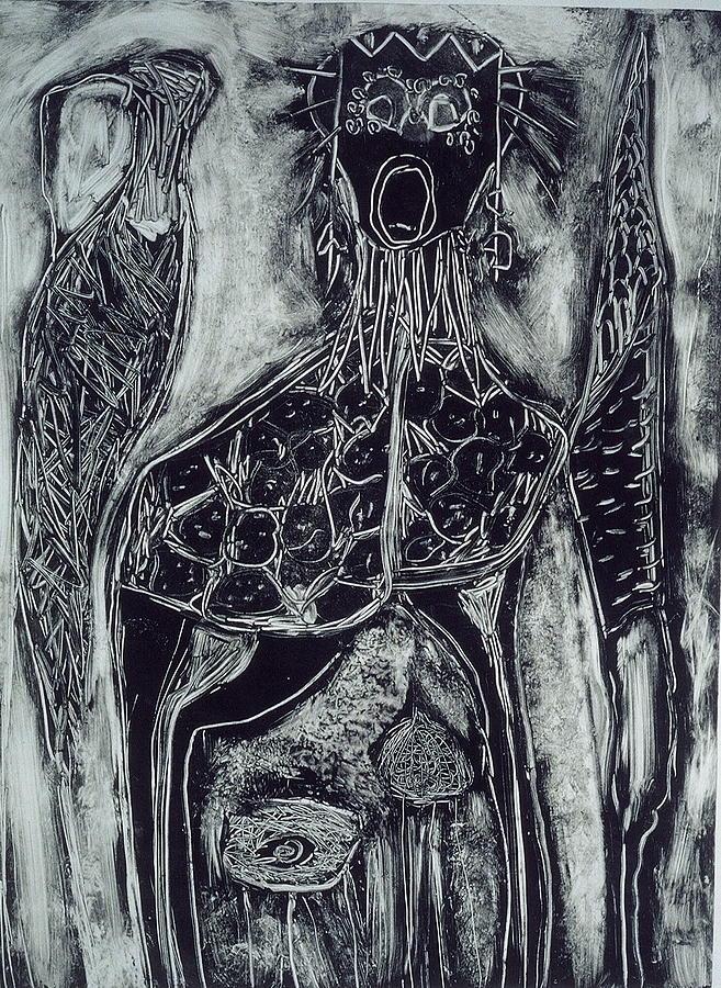 Primitive Print - Primal by Angela Dickerson