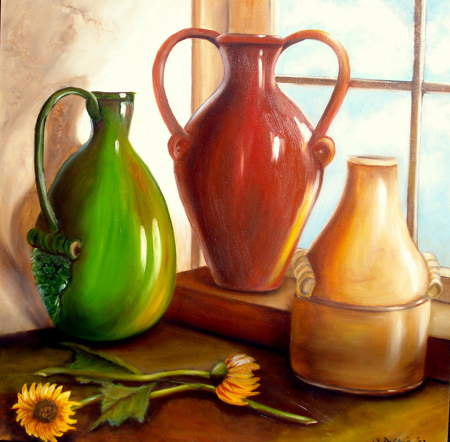Primarily Jugs. SOLD by Susan Dehlinger