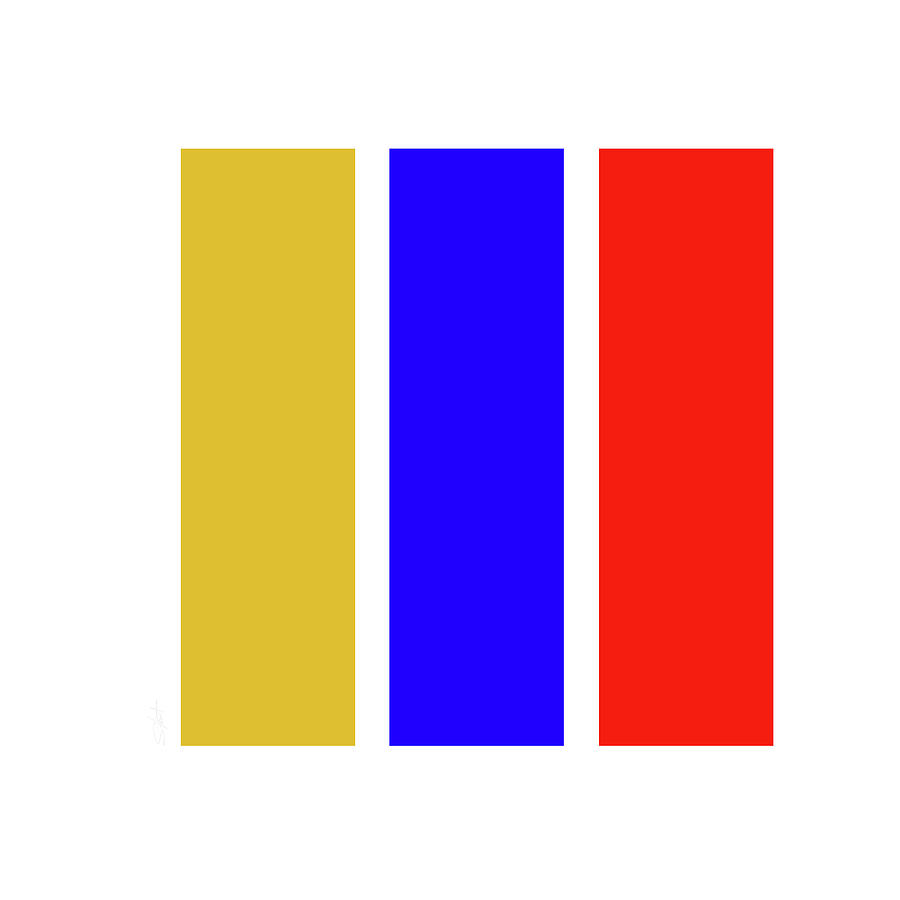 Primary Colors Digital Art - Primary by Charles Stuart
