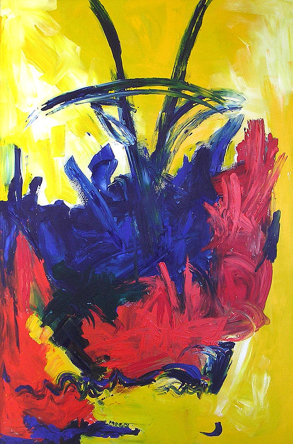 primary color abstract painting by maggis art