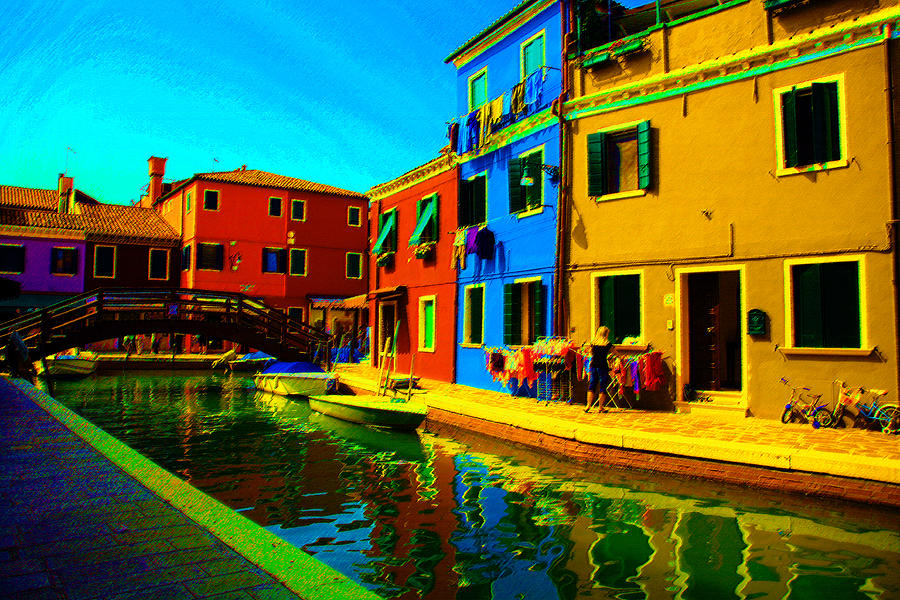 Burano Pastel - Primary Colors 2 by Donna Corless