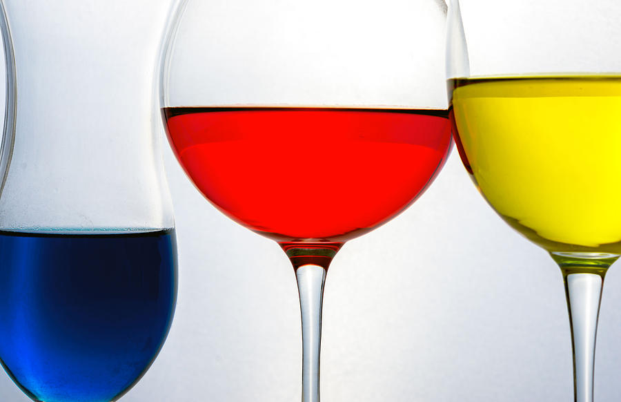 Glass Photograph - Primary Colors in Glass by Lonnie Paulson