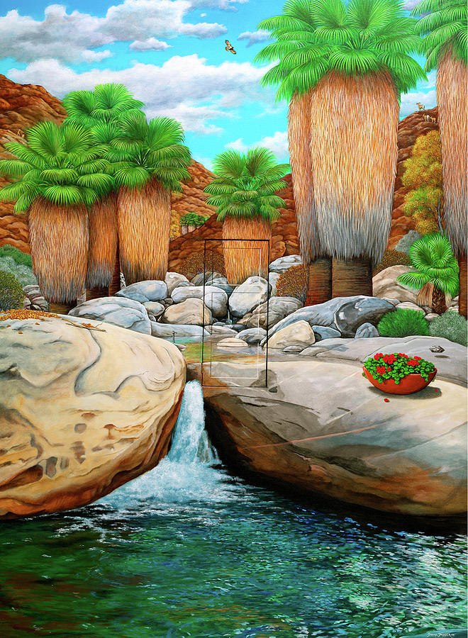 Landscape Painting - Primary Escape Route by Snake Jagger