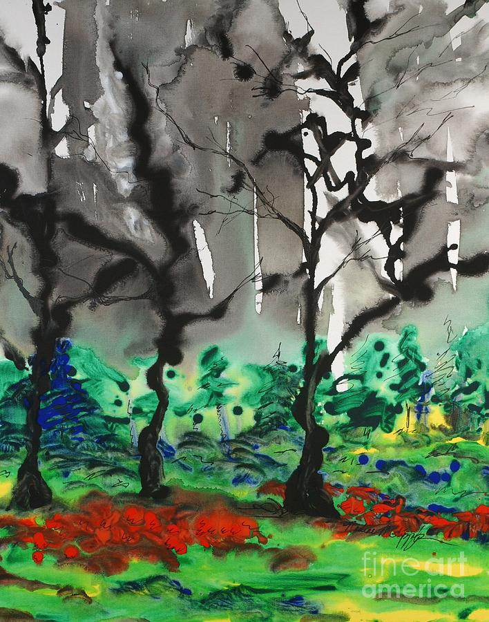 Forest Painting - Primary Forest by Nadine Rippelmeyer