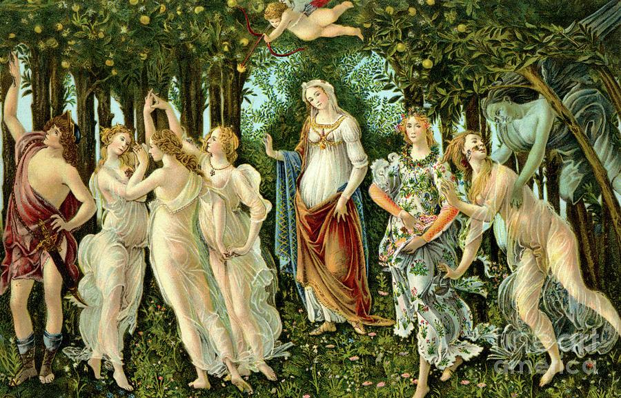 Sandro Botticelli Painting - Primavera Or Spring by Sandro Botticelli