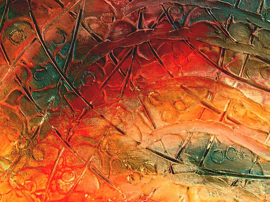 Composition Painting - Primitive Abstract 1 By Rafi Talby by Rafi Talby